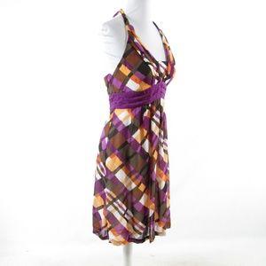 Anthropologie Dresses - Anthropologie brown halter dress 6